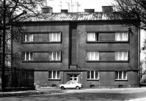 Dom przy ulicy Mickiewicza 16, w którym do 1942 roku mieszkała Maria Perlberger, lata sześćdziesiąte XX wieku.
