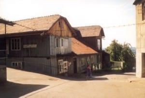 Były dom rodzinny Birnbaumów przy ulicy Garbarskiej, lata osiemdziesiąte XX wieku.